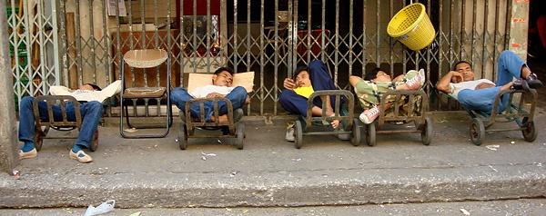 Males Can Sleep Anywhere by Jaye