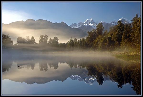 Lake Matheson and Mount Cook by u47sb2