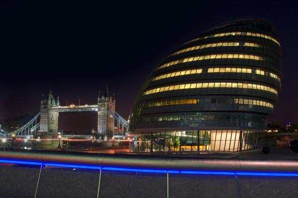 City Hall & Tower Bridge by EeeZeeLee