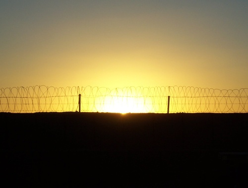 Sunset Through The Wire by jayuubee