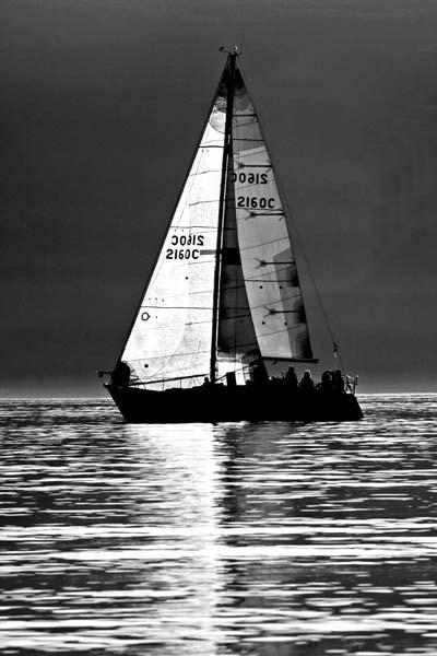 Backlit yacht by RosePhoto