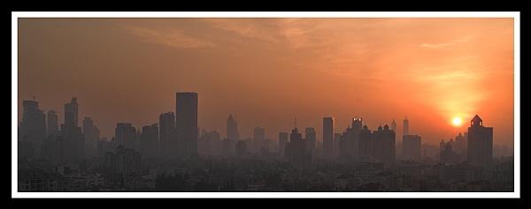 Shanghai Dawn by Skier