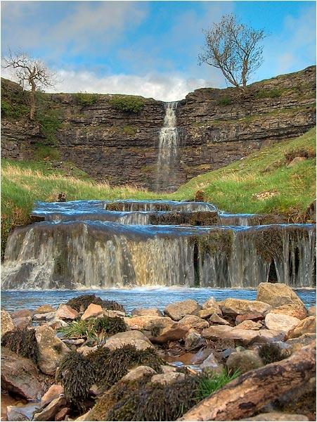 Waterfall near Cray by MrsMad