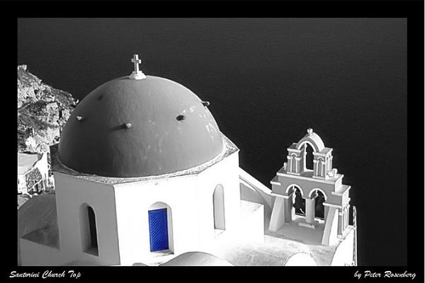 Santorini Church Top by pmscr