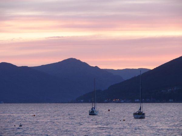 sunset at Gourock by tenerifejohn