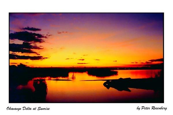Okavango Delta at Sunrise by pmscr