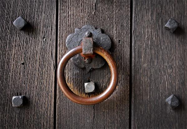 Studded Door & Ring by Ingleman