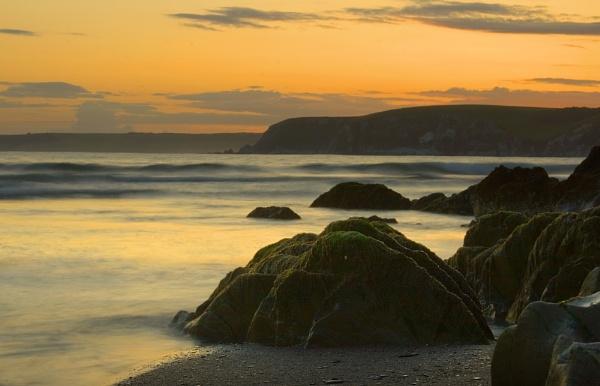Bigbury Sunset by piccy
