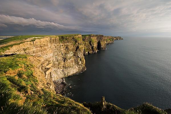 stormy cliffs by lightning