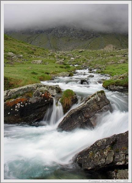 The Po river sources. Pian della Regina, Western Alps, Piedmont, Italy. by paolodefaveri