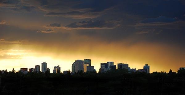 Edmonton Skyline by KathyR