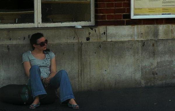 Waiting for a ride by Hughmondo