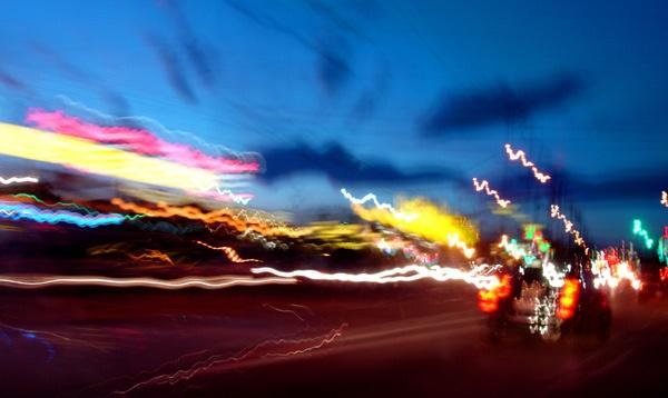 neon ribbons by dblacklock