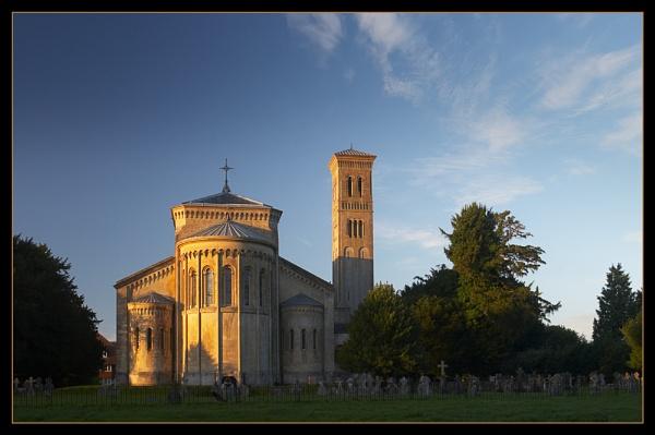 Wilton Church, Evening Light.