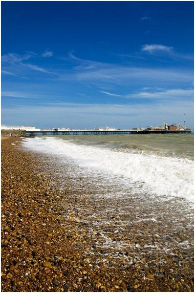 Brighton Beach by iainjohnmorrison