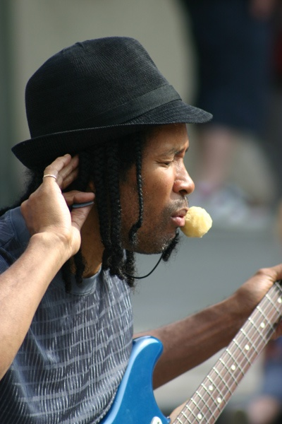 Busker in Covent Garden by Nita
