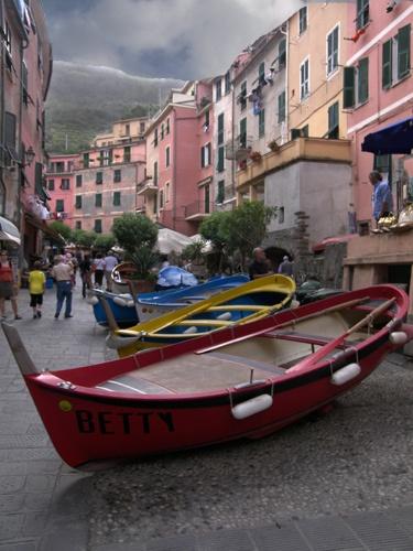 Main Street, Vernazza by skoffs