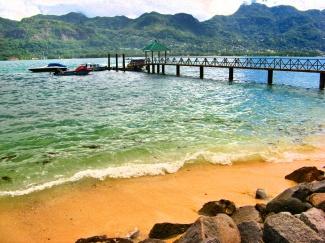Sandy beach at paradise island by daniello32