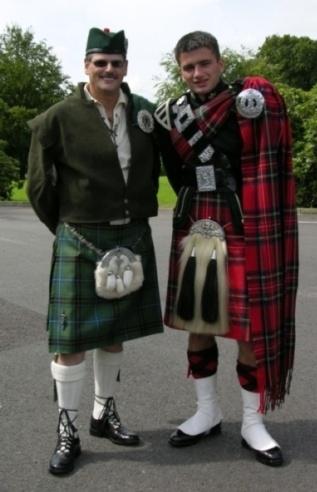 Scotsmen by tractor