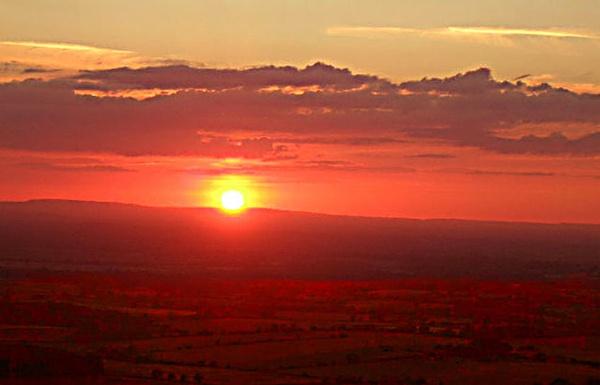 sunset by evelen