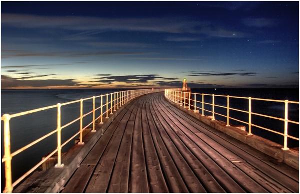Whitby Pier by stevenb