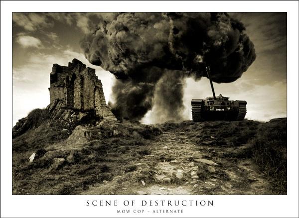 Scene of destruction