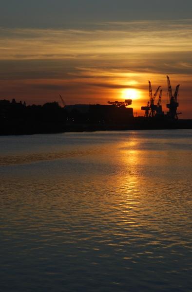 Shipyard silhouettes by Adonalds