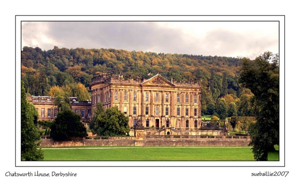 Chatsworth House by suetography