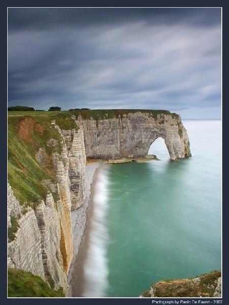 Etretat, La Manneporte. Normandy, France. by paolodefaveri