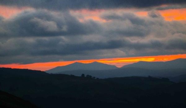 A cold sunset by pgurnett