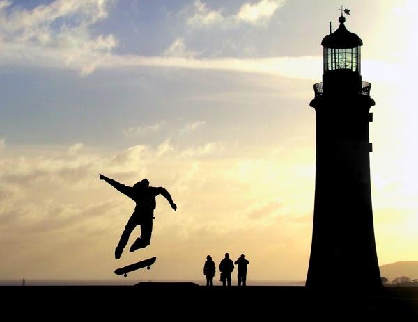 skateboarder silhouette by will_harvey