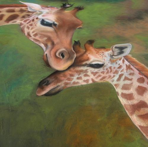 Giraffe Love by liparig