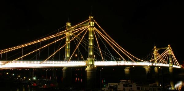Albert Bridge by penguinc