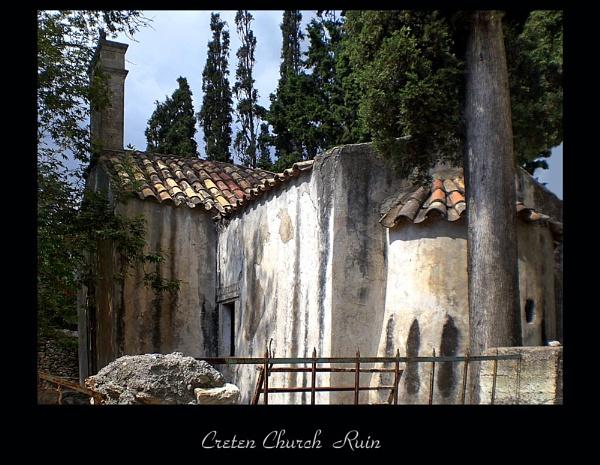 Cretan Church in deserted village by evelen
