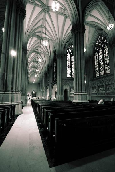 Church Aisle by azhurian