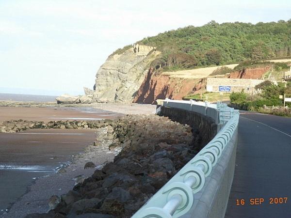 my local seawall & cliffs by mars