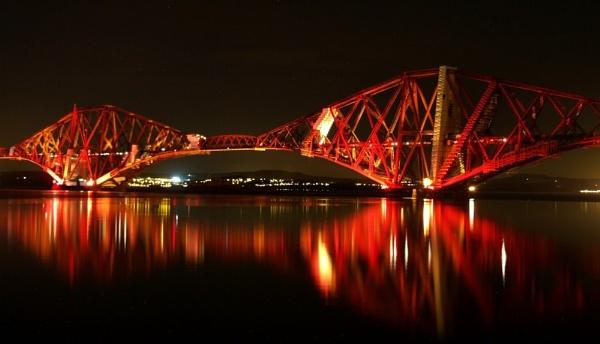 Forth Bridge at Night 2 by Pearybhoy