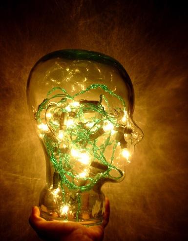 Glowing head by LaurenWoodhall