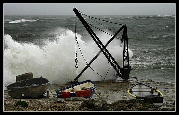 Stormy sea at Portland by greystone
