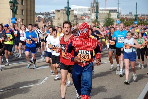 Spiderman Running Great North Run by BeerMonster