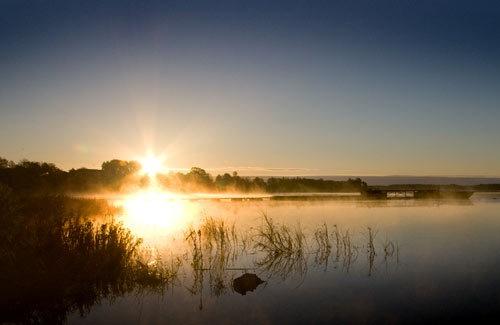 Sunrise By Daugava by Vilcens