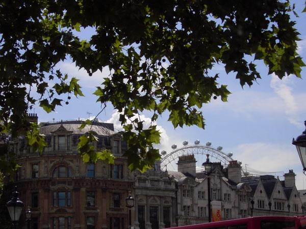 London Eye from a bus by ellaw