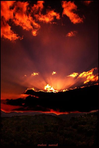 cretan sunset number2 by evelen