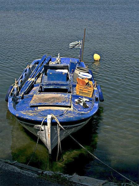 Blue Boat by Glynn