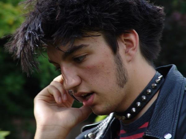 punk on phone by jessbu