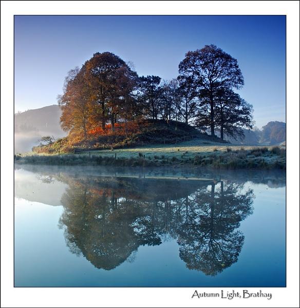 Autumn Reflection Brathay by gnospellius