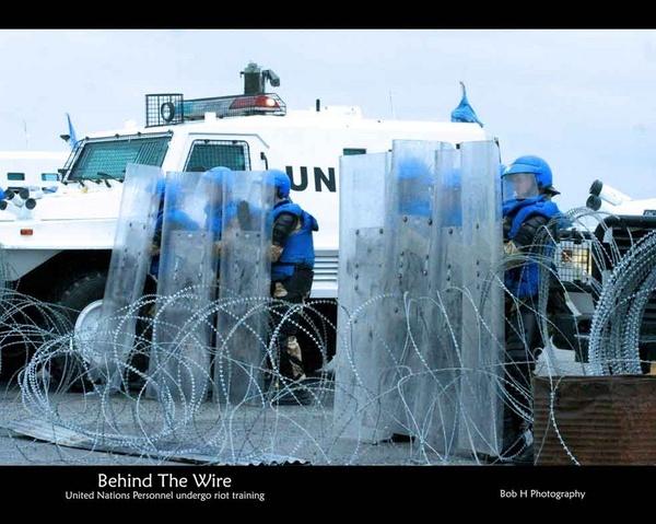 United Nations Riot Training by BobHPhotos