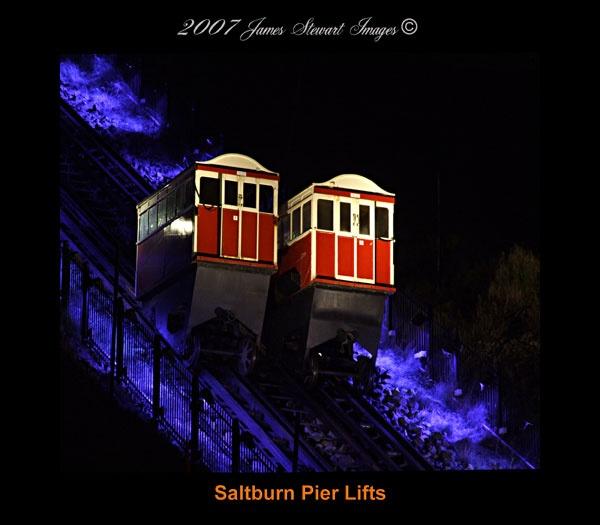 Saltburn pier lifts by jjimmyjimbones