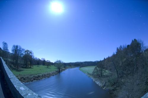 moonlit river by digitalpic