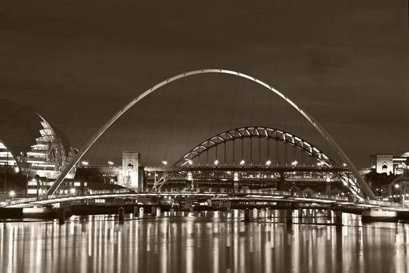 Tyne Bridges Mono by peugeot406